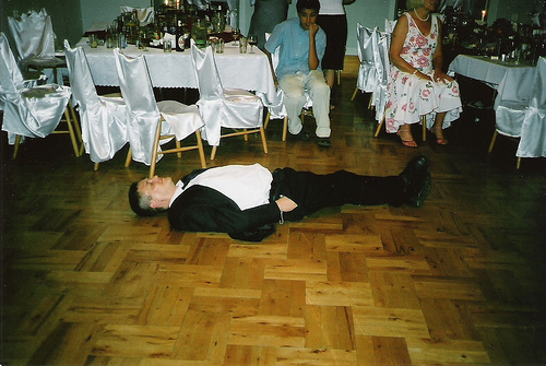 drunk uncle at a wedding