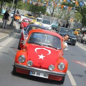 Turkish man in car